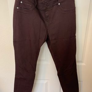 Brown jeggins (new) torrid